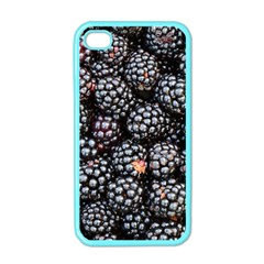 Blackberries Background Black Dark Apple Iphone 4 Case (color)