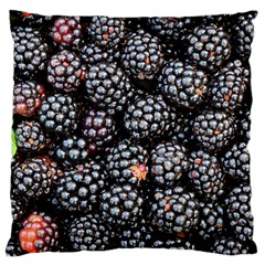 Blackberries Background Black Dark Large Cushion Case (one Side)