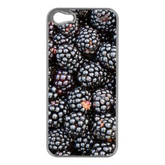 Blackberries Background Black Dark Apple Iphone 5 Case (silver)