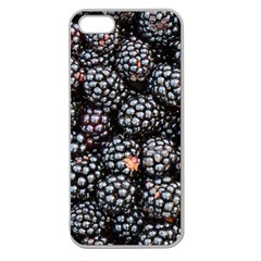 Blackberries Background Black Dark Apple Seamless Iphone 5 Case (clear)