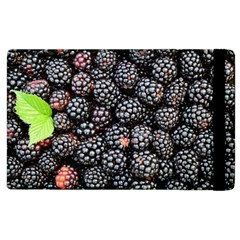 Blackberries Background Black Dark Apple Ipad 2 Flip Case