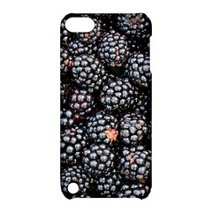 Blackberries Background Black Dark Apple Ipod Touch 5 Hardshell Case With Stand