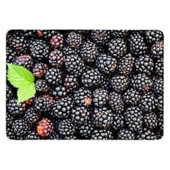Blackberries Background Black Dark Samsung Galaxy Tab 8 9  P7300 Flip Case