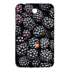 Blackberries Background Black Dark Samsung Galaxy Tab 3 (7 ) P3200 Hardshell Case