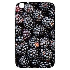 Blackberries Background Black Dark Samsung Galaxy Tab 3 (8 ) T3100 Hardshell Case