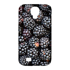 Blackberries Background Black Dark Samsung Galaxy S4 Classic Hardshell Case (pc+silicone)