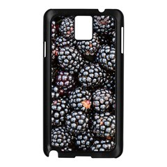 Blackberries Background Black Dark Samsung Galaxy Note 3 N9005 Case (black)