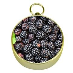 Blackberries Background Black Dark Gold Compasses