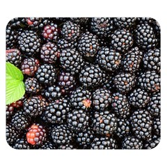 Blackberries Background Black Dark Double Sided Flano Blanket (small)