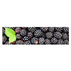 Blackberries Background Black Dark Satin Scarf (oblong)