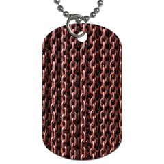 Chain Rusty Links Iron Metal Rust Dog Tag (one Side)