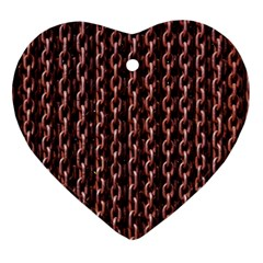 Chain Rusty Links Iron Metal Rust Heart Ornament (2 Sides)