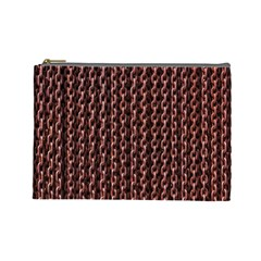 Chain Rusty Links Iron Metal Rust Cosmetic Bag (large)