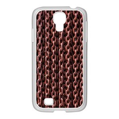 Chain Rusty Links Iron Metal Rust Samsung Galaxy S4 I9500/ I9505 Case (white)