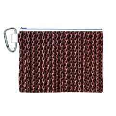 Chain Rusty Links Iron Metal Rust Canvas Cosmetic Bag (l)
