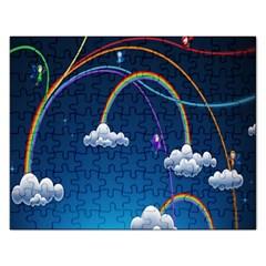Rainbow Rectangular Jigsaw Puzzl