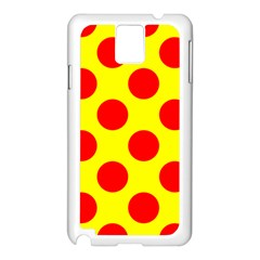 Red Circle Yellow Samsung Galaxy Note 3 N9005 Case (white)