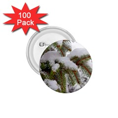 Brad Snow Winter White Green 1.75  Buttons (100 pack)