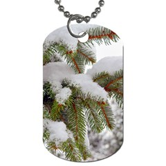 Brad Snow Winter White Green Dog Tag (two Sides)