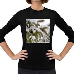 Brad Snow Winter White Green Women s Long Sleeve Dark T Shirts