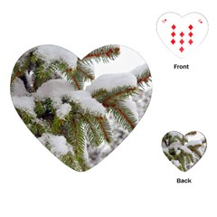 Brad Snow Winter White Green Playing Cards (heart)