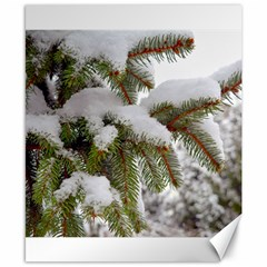 Brad Snow Winter White Green Canvas 8  X 10