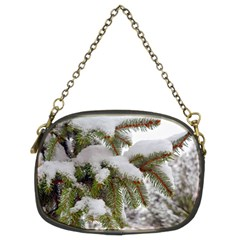 Brad Snow Winter White Green Chain Purses (two Sides)