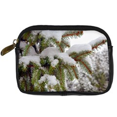 Brad Snow Winter White Green Digital Camera Cases