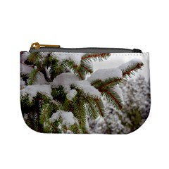 Brad Snow Winter White Green Mini Coin Purses