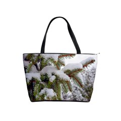 Brad Snow Winter White Green Shoulder Handbags