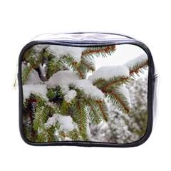 Brad Snow Winter White Green Mini Toiletries Bags