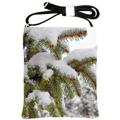Brad Snow Winter White Green Shoulder Sling Bags