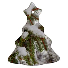 Brad Snow Winter White Green Christmas Tree Ornament (2 Sides)