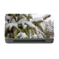 Brad Snow Winter White Green Memory Card Reader with CF