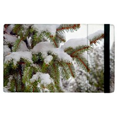 Brad Snow Winter White Green Apple Ipad 3/4 Flip Case
