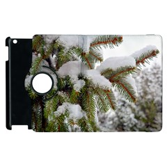Brad Snow Winter White Green Apple Ipad 3/4 Flip 360 Case
