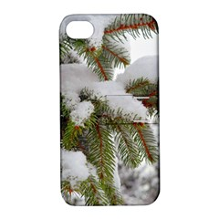 Brad Snow Winter White Green Apple Iphone 4/4s Hardshell Case With Stand