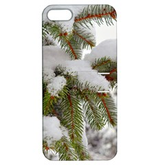 Brad Snow Winter White Green Apple Iphone 5 Hardshell Case With Stand