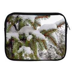 Brad Snow Winter White Green Apple Ipad 2/3/4 Zipper Cases