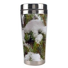 Brad Snow Winter White Green Stainless Steel Travel Tumblers