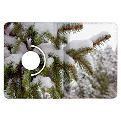 Brad Snow Winter White Green Kindle Fire Hdx Flip 360 Case