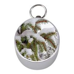 Brad Snow Winter White Green Mini Silver Compasses
