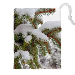 Brad Snow Winter White Green Drawstring Pouches (xxl)