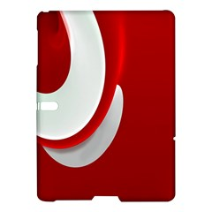 Red White Samsung Galaxy Tab S (10 5 ) Hardshell Case