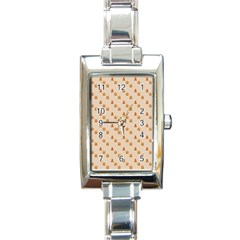 Christmas Wrapping Paper Rectangle Italian Charm Watch
