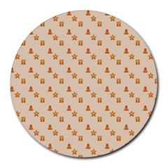 Christmas Wrapping Paper Round Mousepads