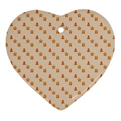 Christmas Wrapping Paper Ornament (heart)