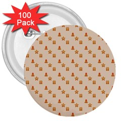 Christmas Wrapping Paper 3  Buttons (100 Pack)