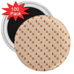 Christmas Wrapping Paper 3  Magnets (100 Pack)
