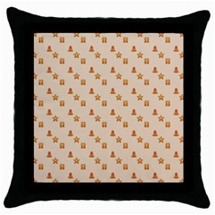Christmas Wrapping Paper Throw Pillow Case (black)